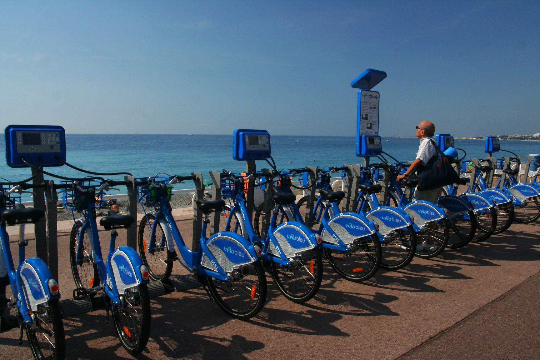 Le vélo bleu à Nice