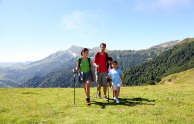 Balade en montagne en famille