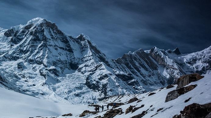 Montagne haut altitude ski
